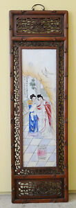 Large Chinese Famille Rose Porcelain Panel M3107