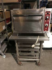 19 2 Stone Deck Pizza Oven Bar Counter Blodgett 1405 1 Phase Electric W Cart