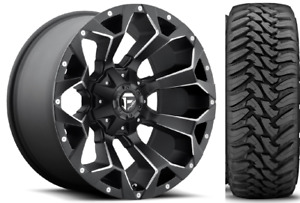 5 20x10 Fuel D546 Assault 33 Toyo Mt Wheel And Tire Package Jeep Wrangler Jk