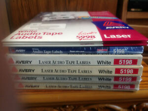 Avery 5198 Laser Audio Tape Cassette Labels White Total Count 3035 Labels
