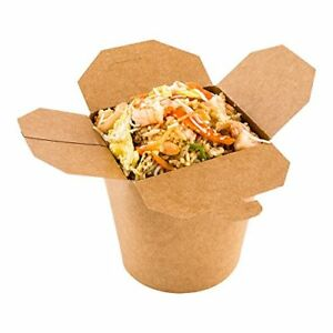Disposable Noodle Take Out Container Noodle To Go Box Eco friendly Paper