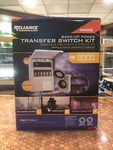 New Reliance Backup Power Transfer Prewired 6 curcuit Kit 3006hdk