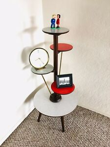 Plant Stand Formica Side Table Mid Century Plant End Table Vintage Space Age