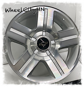 20 Inch Silver Machine Chevy Silverado Texas Oe Replica Wheels Tahoe Ltz 6x5 5
