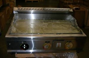 Open Box Lp Gas Griddle Restaurant Kitchen Flat Top Grill 2800pa