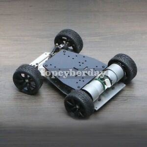 1 10 Smart Robot Car Chassis 1500rpm Dual Motor Drive For Arduino