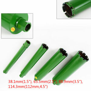1 73 2 5 3 5 4 5 Wet Diamond Core Drill Bit Concrete Premium Green 4pcs set
