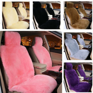 Premium Quality Australian Sheep Skin Car Short Wool Front Seat Covers Cushion