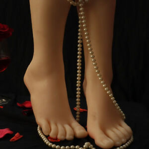 Foot Mannequin Silicone Model Shoes Display Size 38 T38