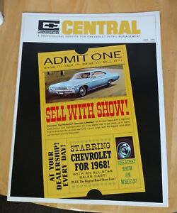 Chevrolet Central Sales Communication June 1968 Sell With Show Chevy Photo Quiz