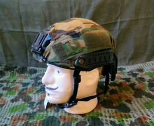 Emerson Fast Helmet With Woodland Cover Airsoft Bump Ops-Core