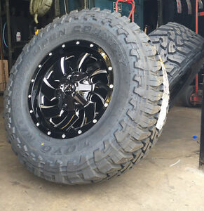 5 17x9 Fuel D574 Cleaver 33 Toyo Mt Wheel And Tire Package 5x5 Jeep Wrangler Jk
