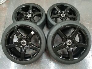 Mercedes Sl550 Oem 19 Inch Factory Staggered Wheels Tires Tpms Black Sl400 Sl