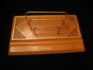 Luxury Bontruper Brown Genuine Leather 24kgold Gilded Envelope Desk Organizer