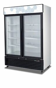 Migali C 49rm Upright Reach In Two 2 Hinged Glass Door Cooler Warranty