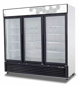 Migali C 72rm Upright Reach In Three 3 Hinged Glass Door Cooler Warranty