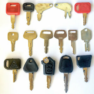 16 Keys Heavy Equipment Construction Equipment Ignition Key Set