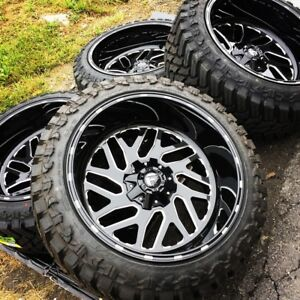 22x12 Fuel D581 Triton 33 Atturo Mt Wheel And Tire Package 8x6 5 Dodge Ram 2500