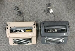 Lot Of 2 Ibm Correcting Selectric Ii Typewriter Beige Black Vintage For Parts