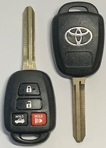 X2 Toyota Camry Corolla 2014 2018 4 button Remote Head Key h Hyq12bdm