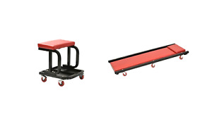 Automotive Bundle Creeper W Adjustable Headrest And Creeper Seat W Tool Tray