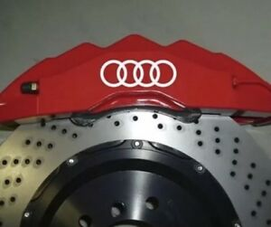 Fits Audi Audi Brake Caliper High Temp Vinyl Decals Sticker Graphics
