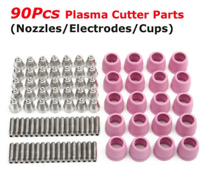 Tips Consumables Fit 60a Lotos Plasma Cutter Ltp5000d Ltpdc2000 Ltpac2500 90 Pcs