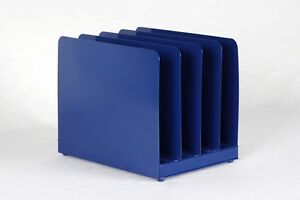 Retro Office Memo Mail Organizer Refinished In Midnight Blue Free Shipping