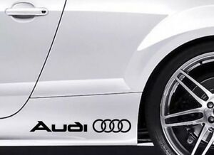 Fits Audi Vinyl Decal Stickers X2 Choose Color