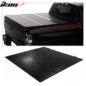 Fits 15 18 Chevy Colorado 5 2ft 62 4in Bed Black Tri fold Hard Tonneau Cover