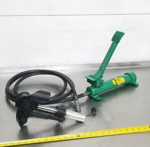 Greenlee 800 Hydraulic Cable Bender W 1725 Foot Pump