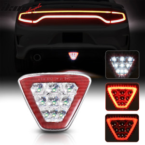 Universal Triangle Red Led Rear Tail 3rd Brake Lights Stop Safety Lamp