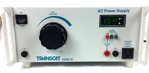 Transcat 22881e Ac Power Supply 0 150vac 4a With Volt Amp Leakage Display