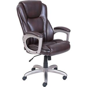 Serta Big Tall Commercial Office Chair W memory Foam 45752 Brown Nice