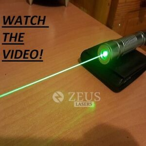 Powerful Military Green Laser Pointer 532nm Bright Beam Wicked Burning Lazer Pen