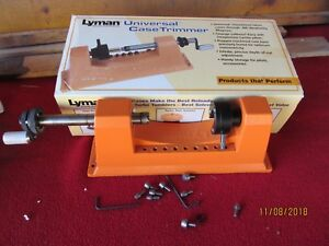 LYMAN UNIVERSAL CASE TRIMMER POWER ADD ON 9 PILOTS EXTRAS