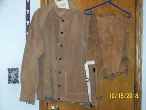 Welding Leather Set new Weld Mark Xl Heavy Duty Long Sleeve Jacket And Chaps