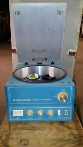 Used Beckman Centrifuge Model Tj 6 W Th 4 Rotor Buckets Approx 2600 Rpm Max
