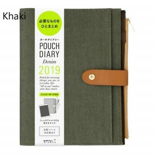 Midori 2019 Personal Organizer Planner Schedule W Zip Pocket A5 Monthly 5 Color