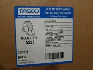 Fasco Draft Inducer A223