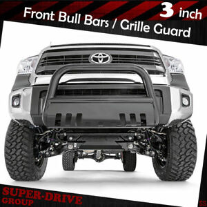For 2000 2006 Toyota Tundra Black 3 Bull Bar Bumper Grille Guards With Skid Pla