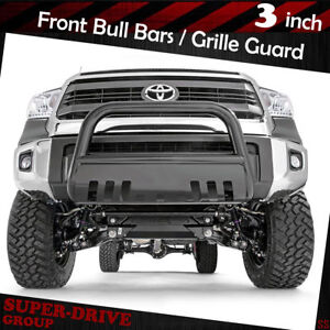 2000 2006 Toyota Tundra Black 3 Bull Bar Bumper Grille Guards With Skid Plate