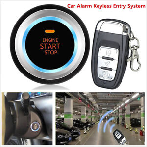 Keyless Car Alarm Security Entry System Remote Control Trunk Led Sensor Lights