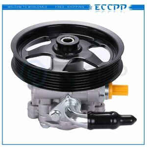 Power Steering Pump With Pulley For Pontiac Gto 2005 2006 6 0l Ohv 92161580
