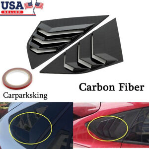 Carbon Fiber Abs Window Side Louvers Vent For Ford Focus St Rs Mk3 Hatchback Us