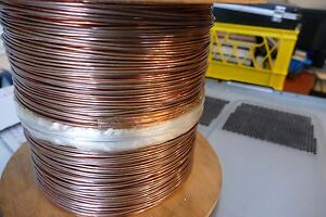 New 12 Awg Solid Bare Copper Single Hard drawn Wire 1 500 Ft 32 Lb Spool