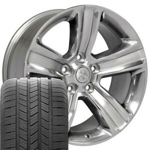 20 Rims Tires Fit Dodge Ram Polished W Silver Wheels Gy Tires 2453
