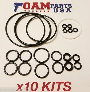 10 Kits 246355 Aftermarket Viton O ring Rebuild Kit For Graco Fusion Ap Orings
