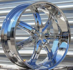 26 Inch Bentchi 7 Chrome Wheels And Tires Challenger Charger Magnum 5x115
