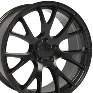 20 Rim Fits Dodge Chrysler Challenger Hellcat Dg15 Satin Blk 2528 20x9 Wheel